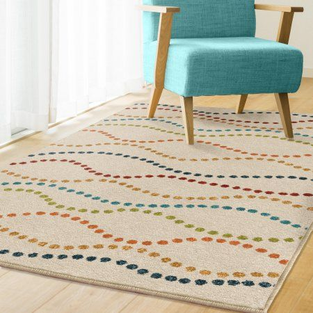 Better Homes And Gardens Dotted Waves White Area Rug 3 10 Inchx5