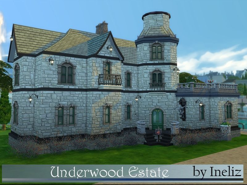 The Underwood Estate Is A Bit Creepy House For The Sims That Desire To Live Like Vampires It Has Vampire Nexus Sunny Aspect And Gre Sims Sims 4 Creepy Houses