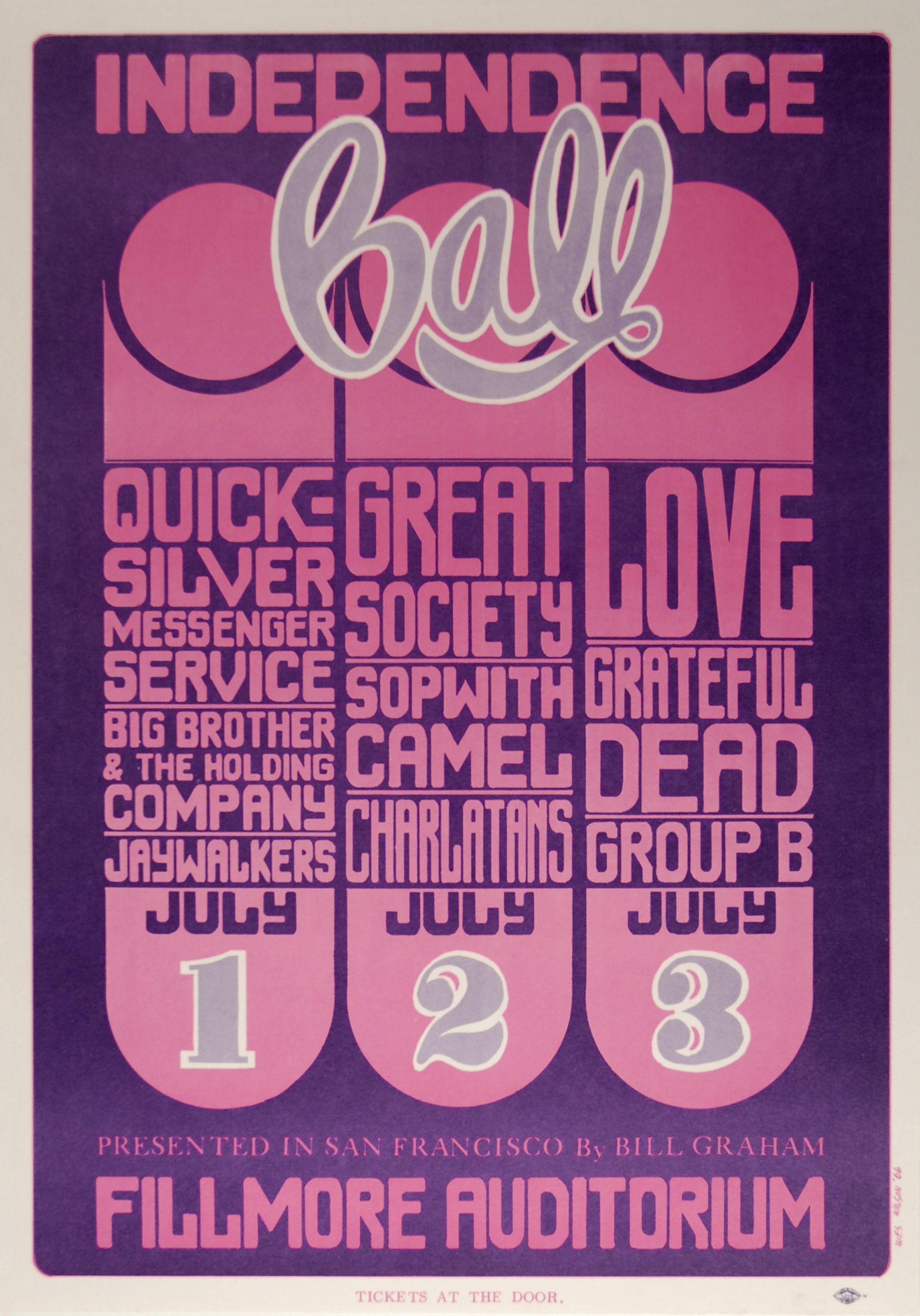 Quicksilver Messenger Service Poster from Fillmore Auditorium (San Francisco, CA), Jul 1966