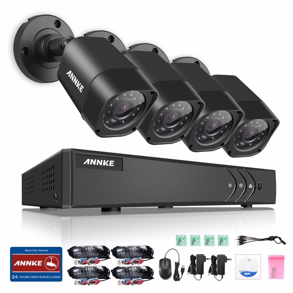 New 4 Channel Hd Ahd 2mp Home Outdoor Security Camera System Kit Ntsc Pal Development Board Array Video Surveillance 1080p Cctv 4ch Dvr Protection Pinterest