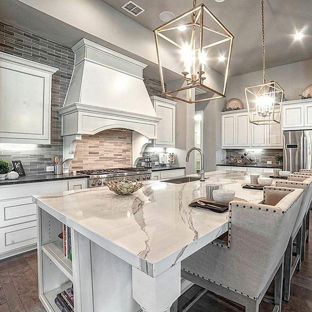 Cool 38 Elegant Luxury Kitchen Ideas White Kitchen Design