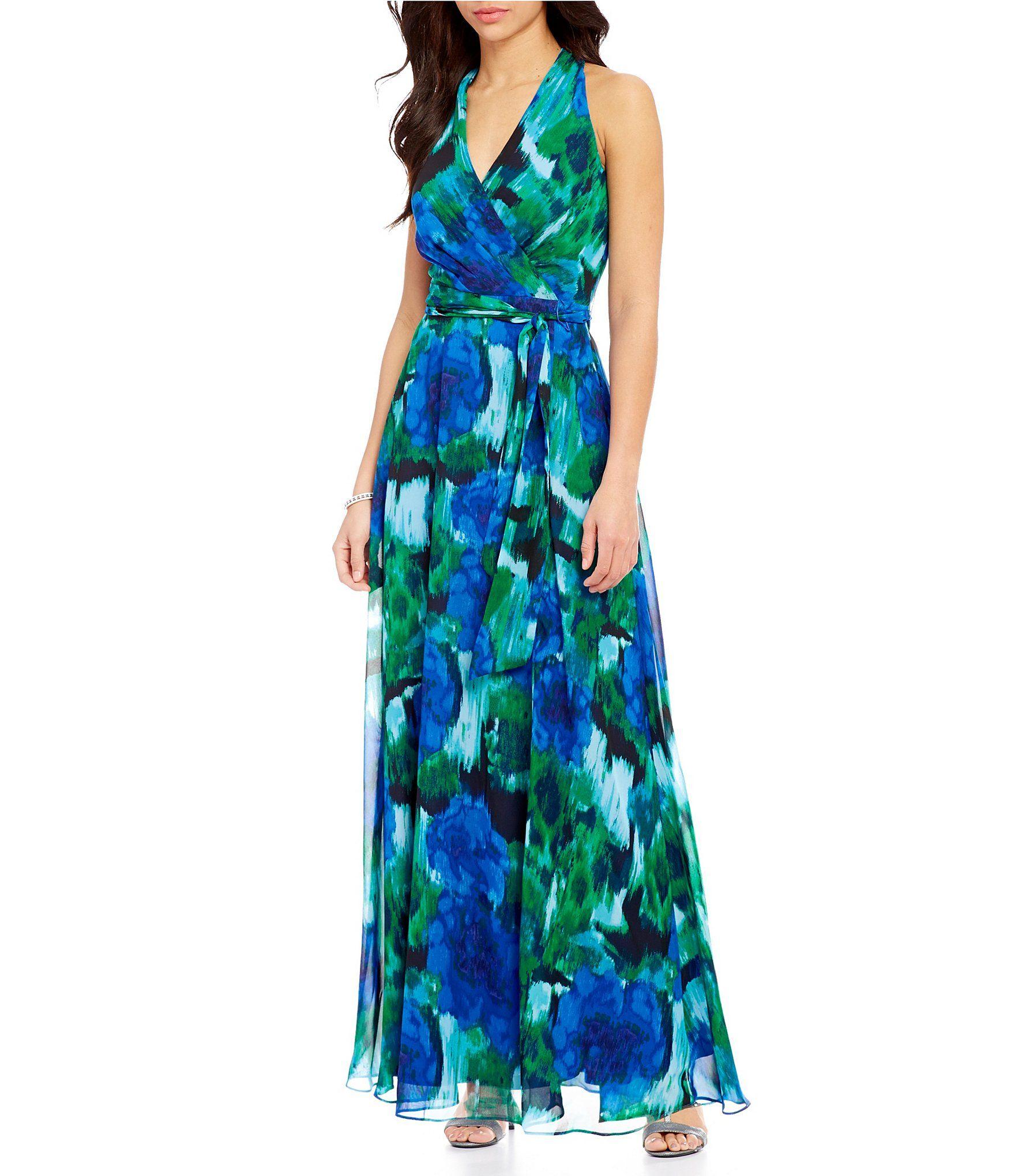 e952ebc23b37 Leslie Fay FloralPrint Chiffon Maxi Dress #Dillards   K & M Wedding ...