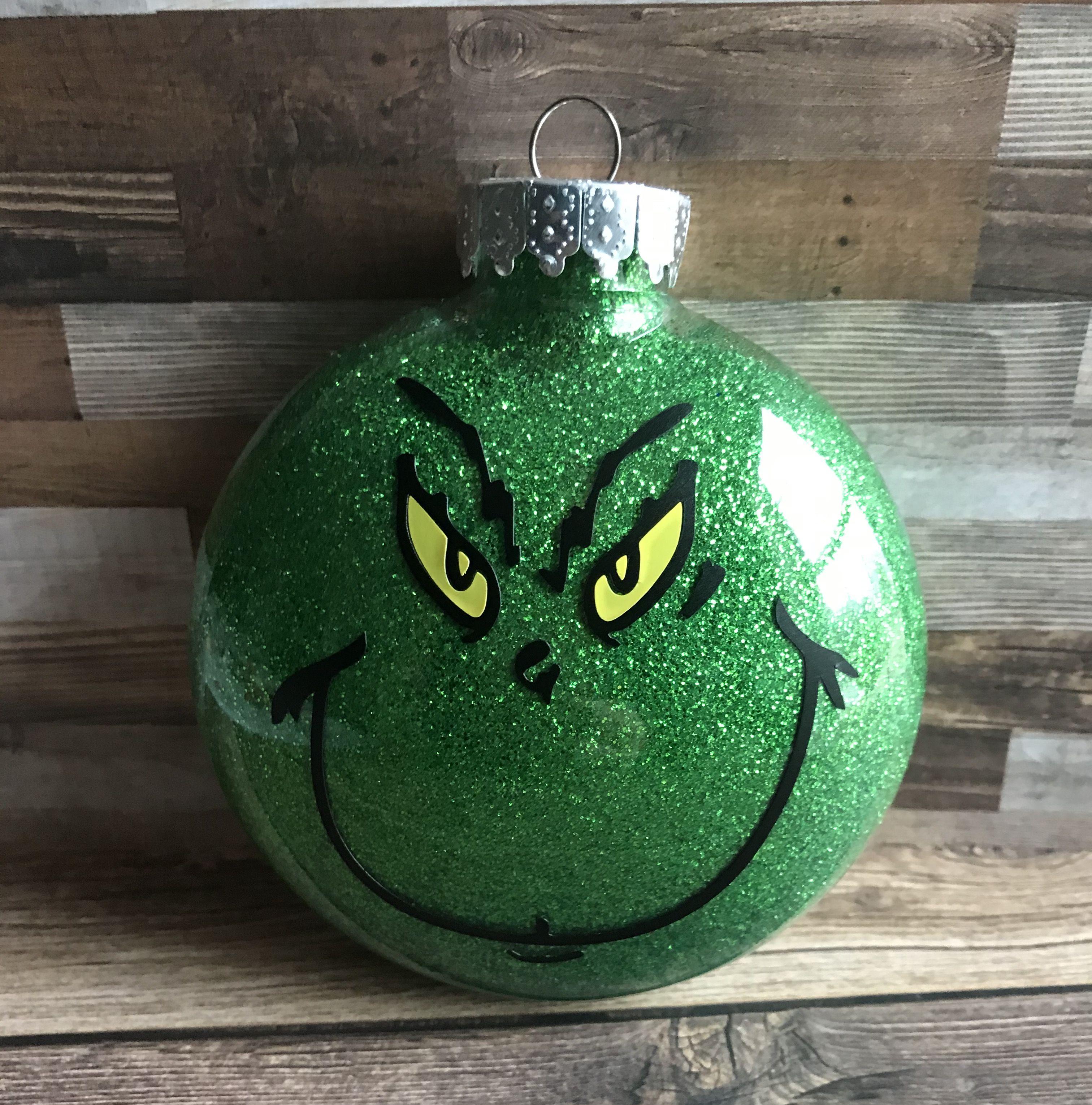 Grinch Glitter Ornament Ornaments Glitter Ornaments Christmas Ornaments