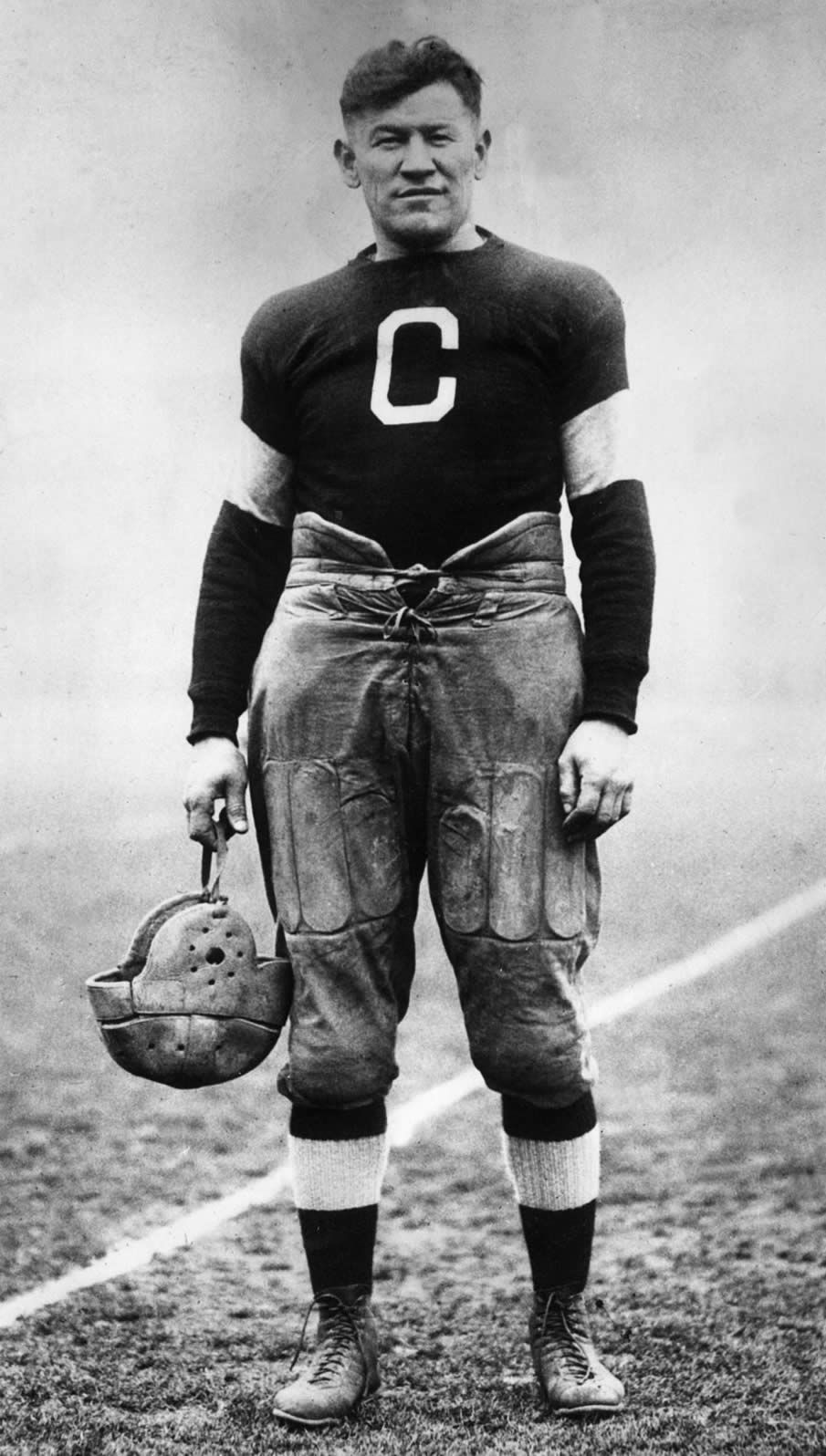 """James Francis """"Jim"""" Thorpe (May 28, 1888 – March 28, 1953) was an American athlete of mixed ancestry (Caucasian and Native American). Considered one of the most versatile athletes of modern sports, he won Olympic gold medals for the 1912 pentathlon and decathlon, played American football (collegiate and professional), and also played professional baseball and basketball."""