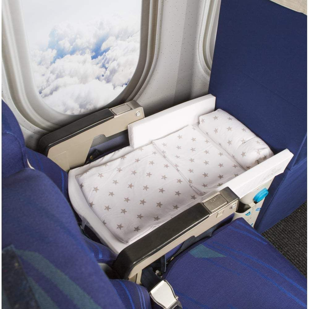 this travel gadget turns airplane seats into beds for toddlers get