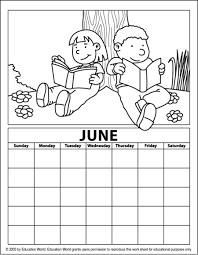 Resultado de imagen para calendar for coloring