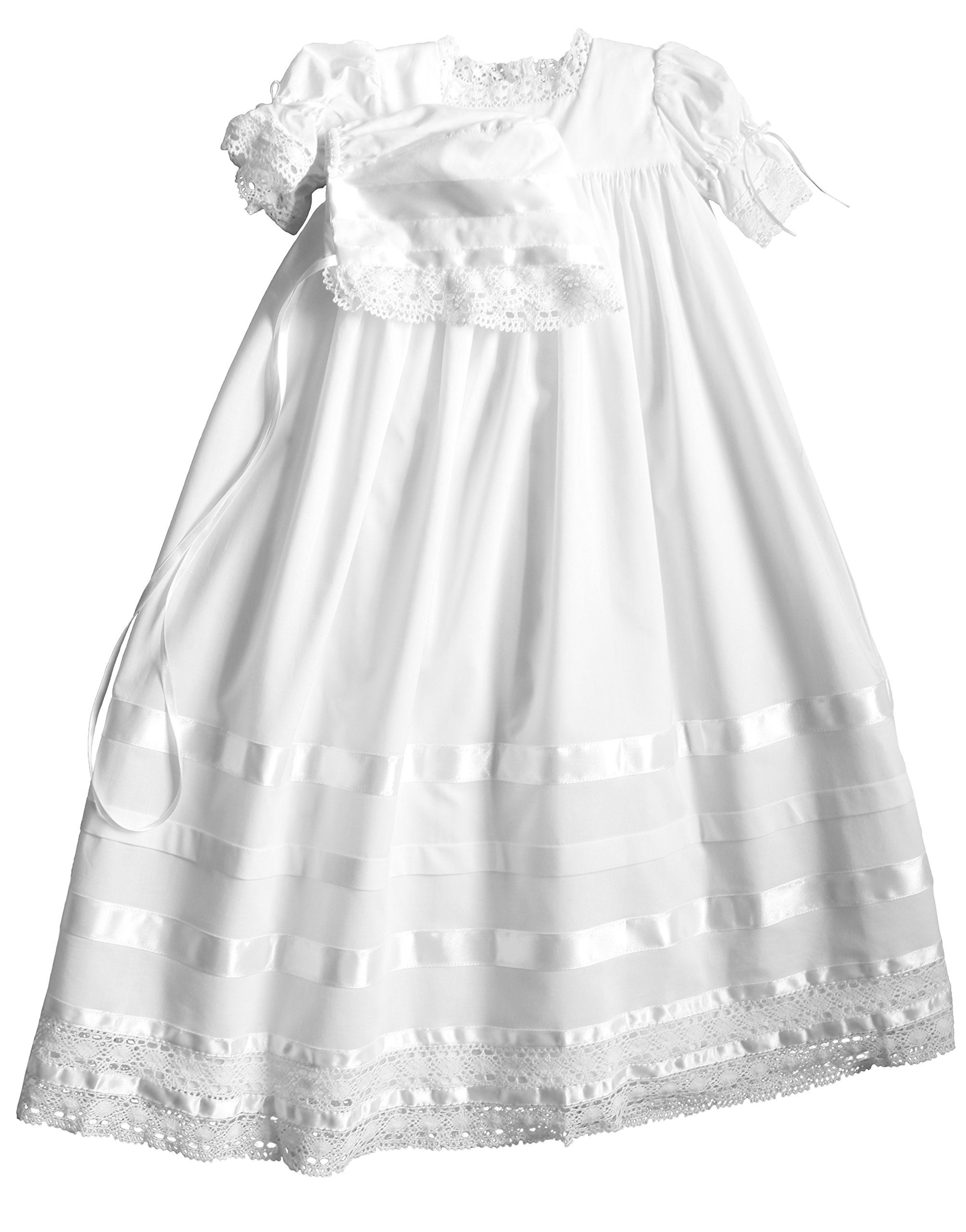 57d7469c2bf7 Strasburg Children Babies Lace Christening Gown Heirloom Baptism Dress  w/Bonnet 6 Month White * A lot more information might be found at the image  url.
