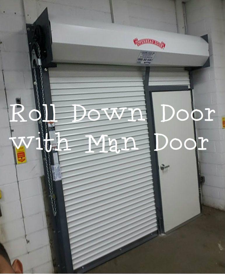 Roll Down Door With Man Door Overhead Door Company Of Meadowlands U0026 NYC  Rolling Door With Pass Door.