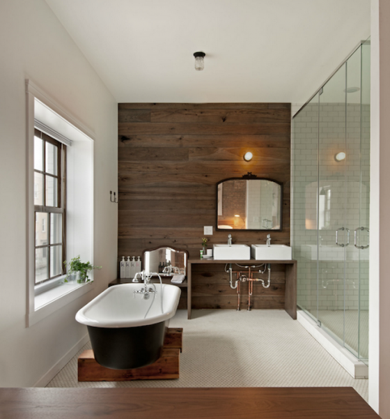 Lower Part Of Wall With Accent: 12 Quick, Easy, Low Cost Ways To Give Your Bathroom A New