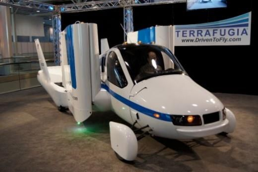 flying car at new york auto show