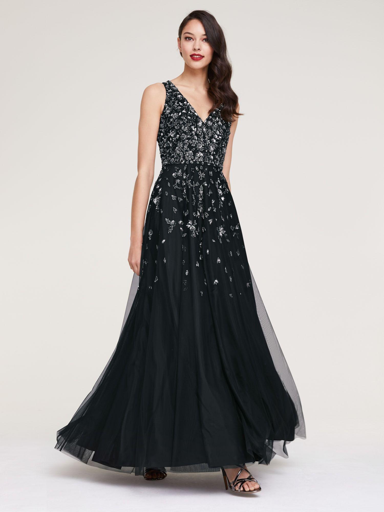 Heine Kleid Damen, Schwarz, Größe 10  Kleider, Abendkleid und Heine