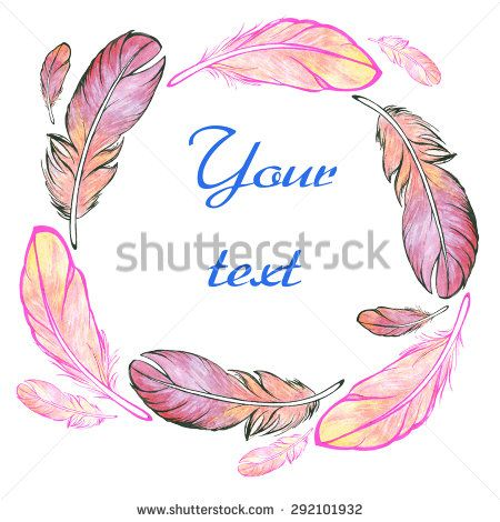 Vector watercolor background feathers.  - stock vector