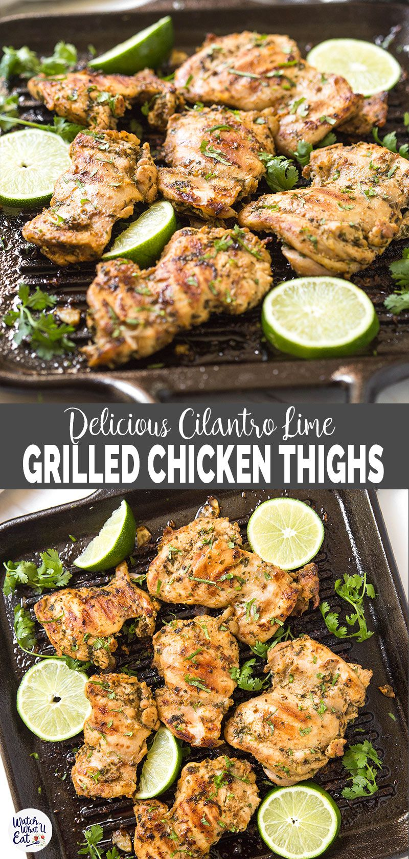 Easy Cilantro Lime Grilled Chicken Thighs images