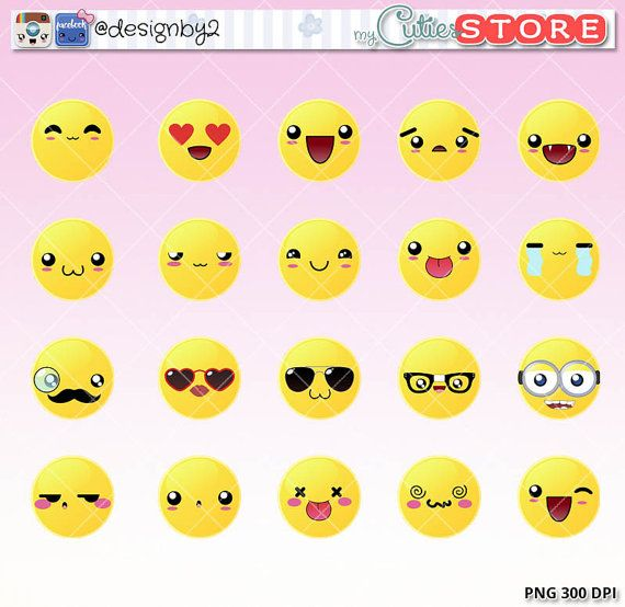Emoji Kawaii Clipart Emoticons Clipart Cute Digital Graphics For Planner Stickers Scrapbooking Reminders Or Anywhere Y Kawaii Clipart Kawaii Faces Clip Art