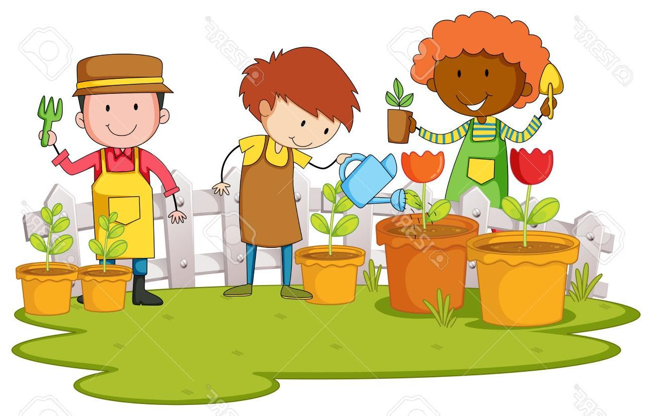 Hd Planting Garden Clip Art Vector Pictures