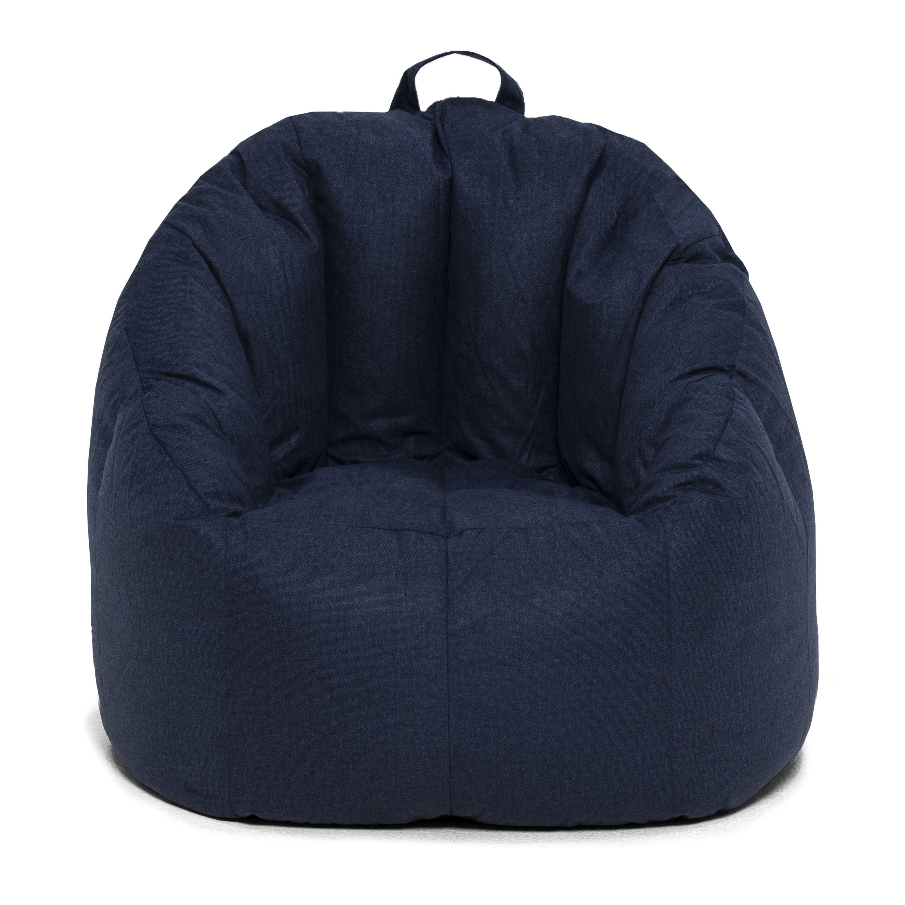 """Big Joe Joey Bean Bag Chair, Cobalt 28.5"""" x 24.5"""" x 26.5"""