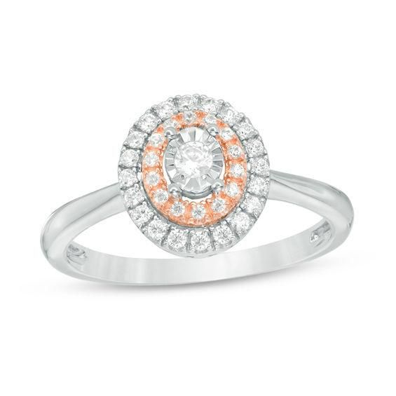 ZALES - #Zales 1/4 CT. T.W. Diamond Double Oval Frame Promise Ring ...