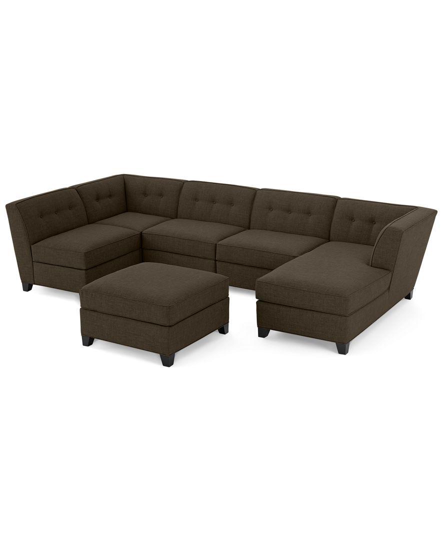 Macy S Clarke Wood Base Sofa Chaise