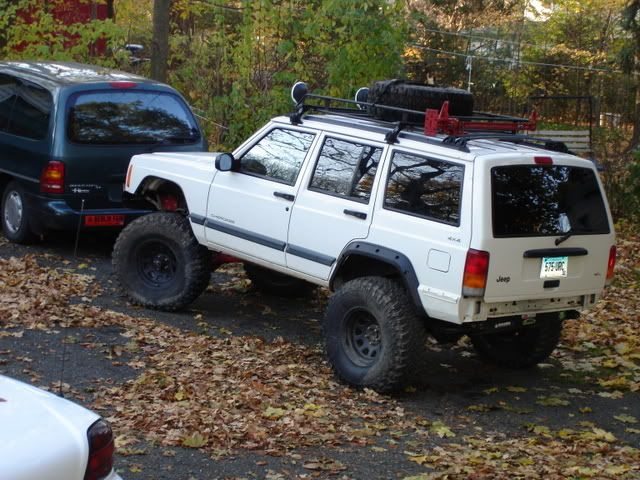 Lifted Xj With Roof Rack Xj Roof Rack W Hellas And Hi Lift