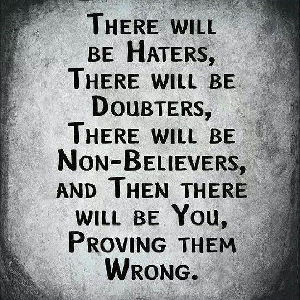 Haters ...