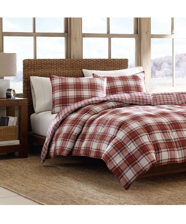 Look at this Red Plaid Edgewood Comforter Set on #zulily today!