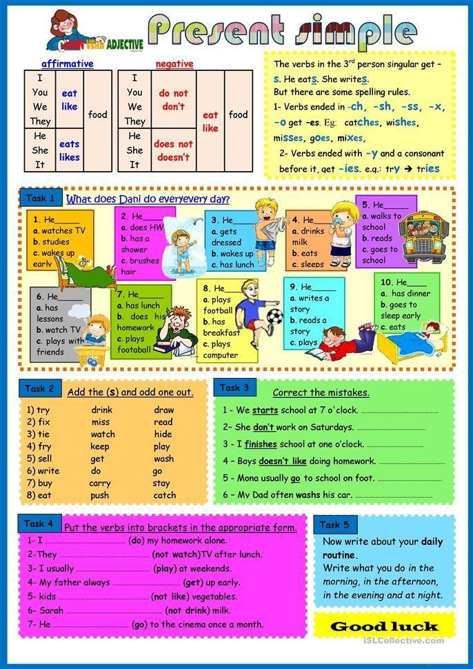 Present Simple Presente Simple En Ingles Lecciones De Gramática Ejercicios De Ingles