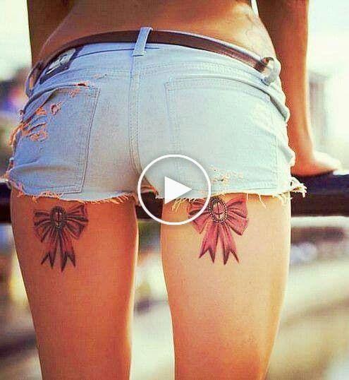 Thigh tattoos, desig
