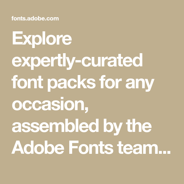 Download Explore expertly-curated font packs for any occasion ...