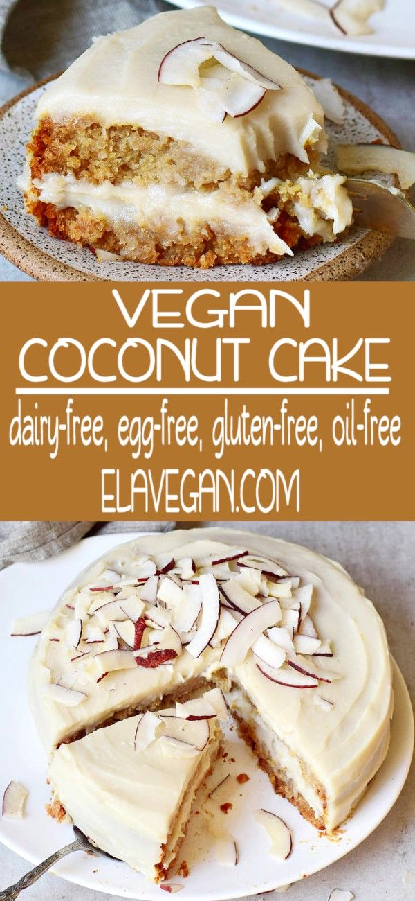 Vegan Coconut Cake #vegetariandish