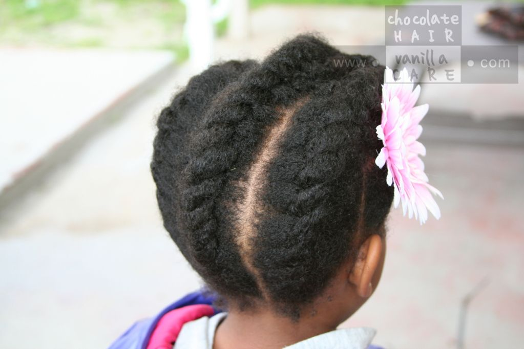 Simple Large Loose Flat Twist Up-Do #Hairstyle