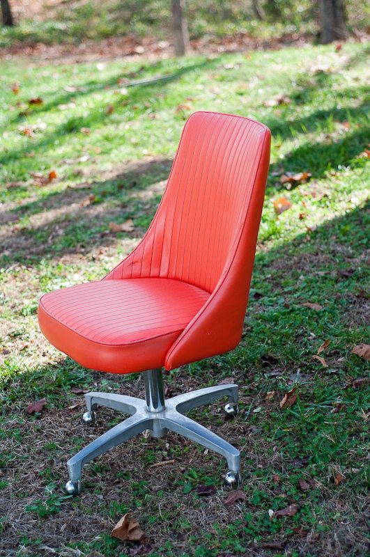Orange Vintage 60s Chromcraft Chair With Swivel And Casters. Dining Room  ChairsDining ...