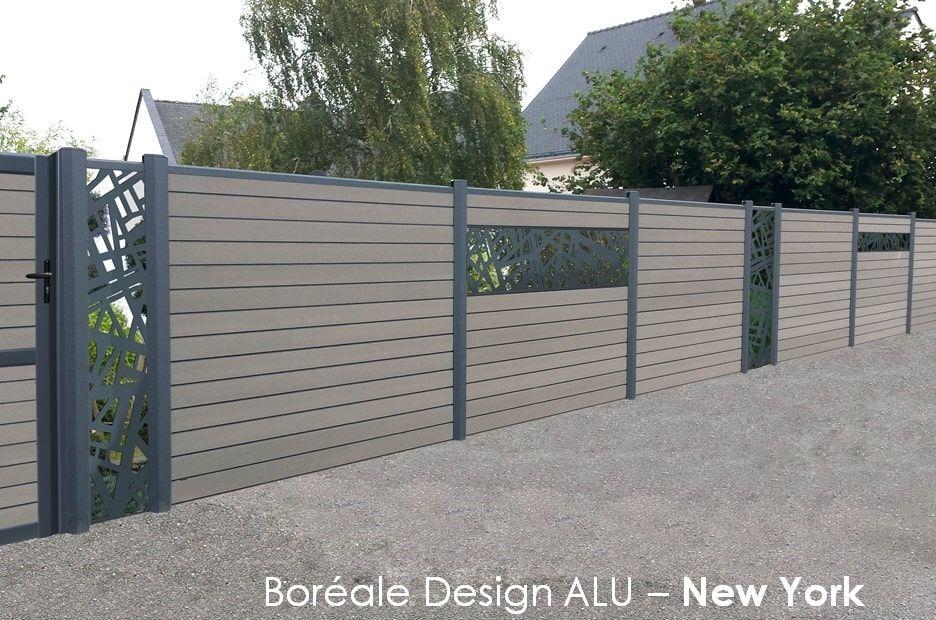 Panneaux de cloture composite Brun Arabica par Océwood® Clôtures - palissade en pvc jardin