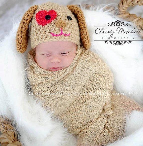 PATTERN Puppy Love Hat Crochet by SweetPotato3Patterns on Etsy ...