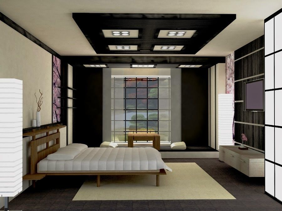 10 False Ceiling Designs In Japanese Style For Living Rooms