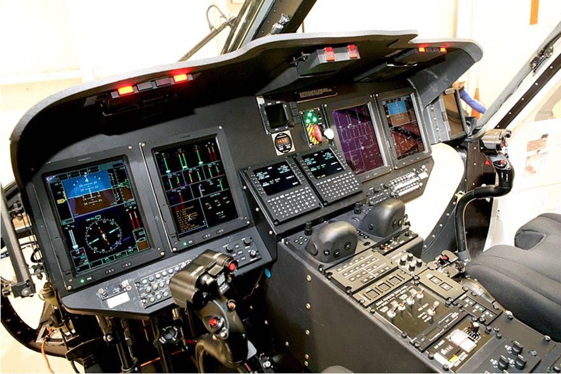 Touchscreen cockpit of the future