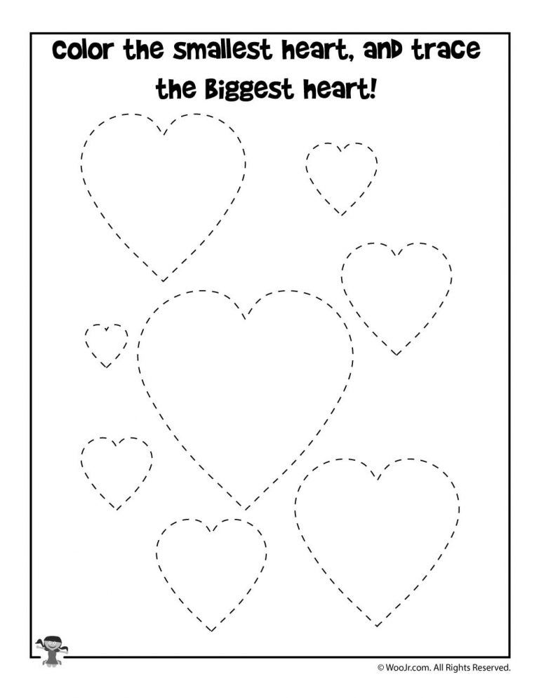 Size Comparison Valentine Worksheet Woo Jr Kids Activities In 2021 Valentine Worksheets Preschool Valentines Worksheets Preschool Valentines
