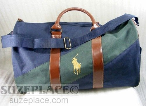 Ralph lauren polo duffle bag navy blue   green excellent used ... d631414c64e55