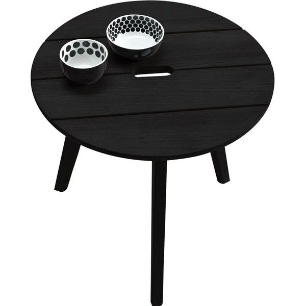 Ethimo Knit Round Coffee Table Black Mahogany 300 Liked On