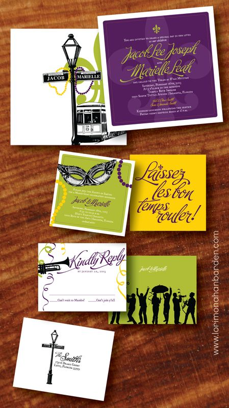 Lori monahan borden design llc new ideas new orleans theme invite lori monahan borden design llc new ideas new orleans theme invite invitation street car lamp post jazz band mardi gras mitzvah new orleans invite stopboris Gallery