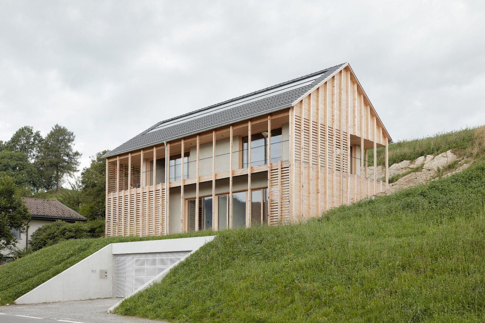 Architekten innauer matt holzbau pinterest for Moderne villen grundriss