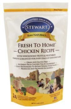Frozen Dog Food Stewarts Raw Naturals Frozen Dog Food 731517 24 Count Fresh To Home Chicken 3pound Bag Food For Pets 2ounce Dog Food Recipes Food Frozen Dog