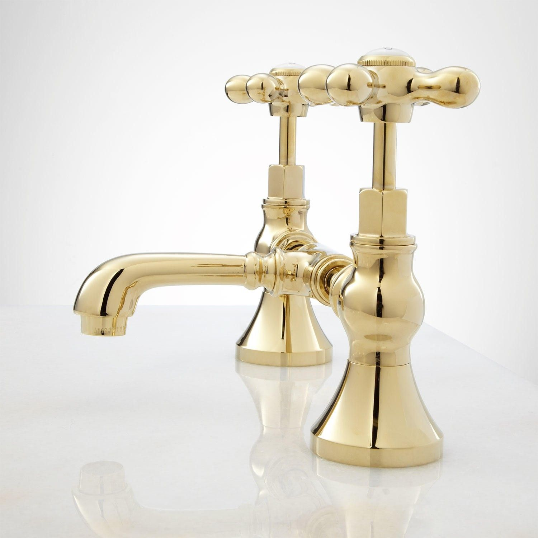 Monroe Bridge Bathroom Faucet Cross Handles Faucet