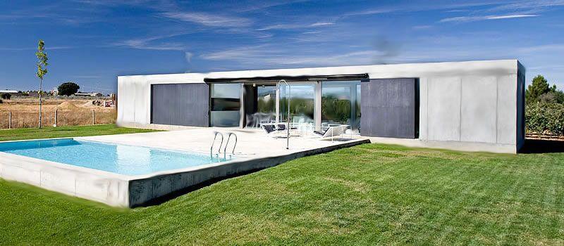 casas viviendas minimal home concept