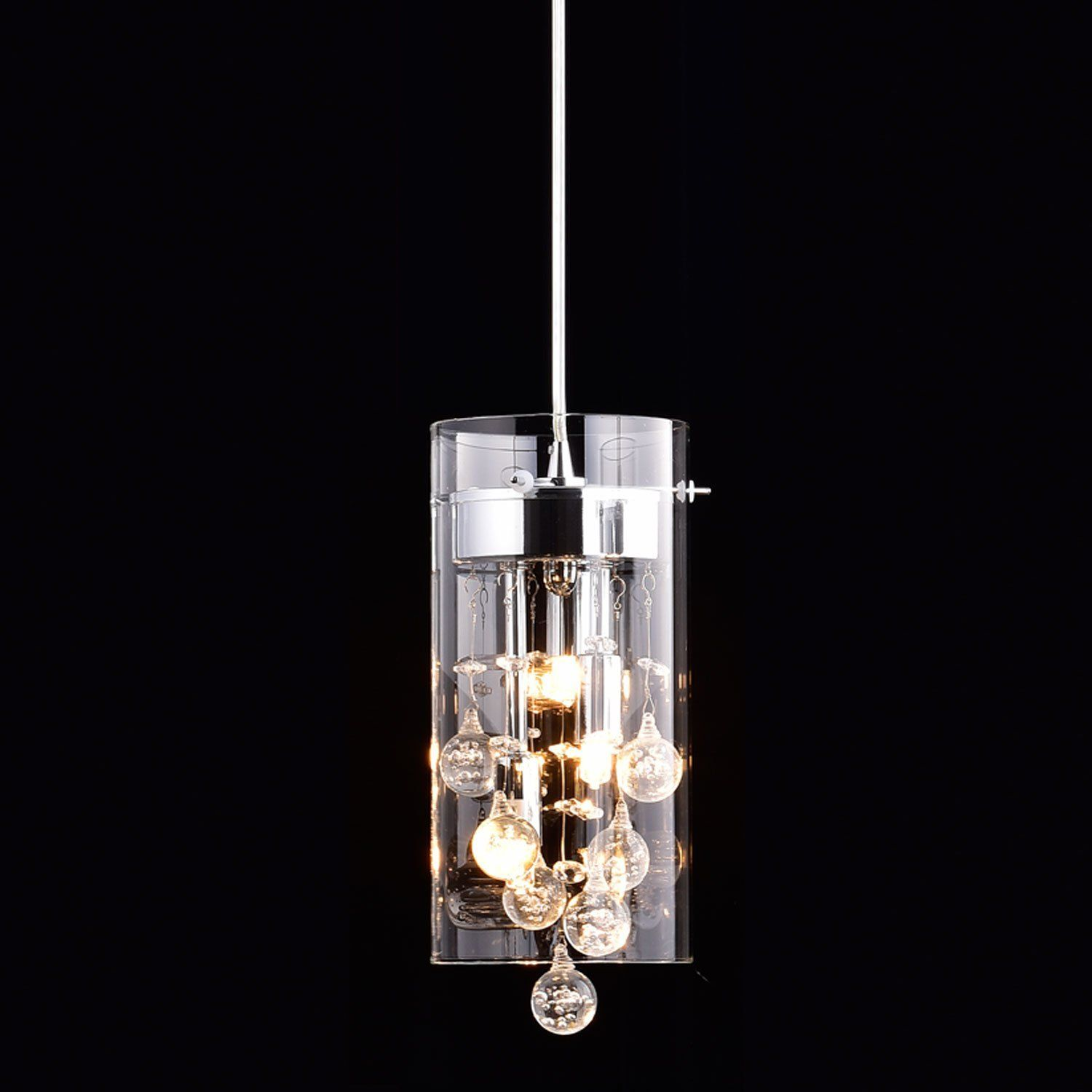 Claxy Ecopower Lighting Glass Crystal Pendant Lighting Modern Chandelier For Kitchen Amazon Com Crystal Pendant Lighting Pendant Light Fixtures Glass Pendant Light
