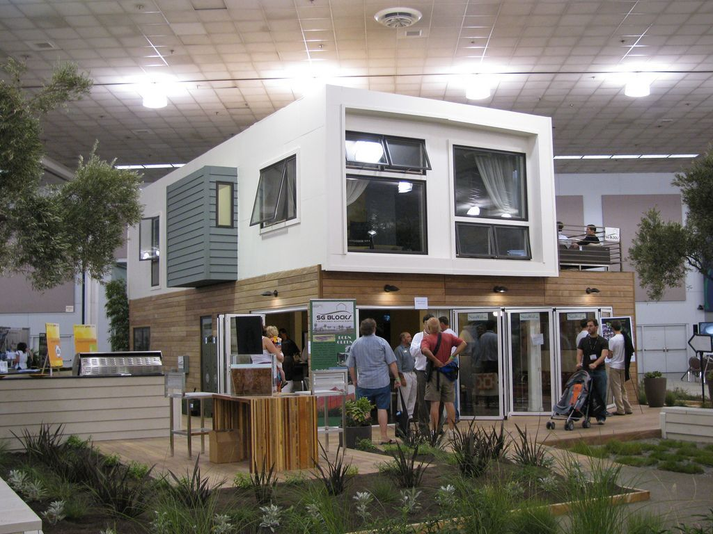 Modern Green Home Built From Shipping Containers As A Showhouse For