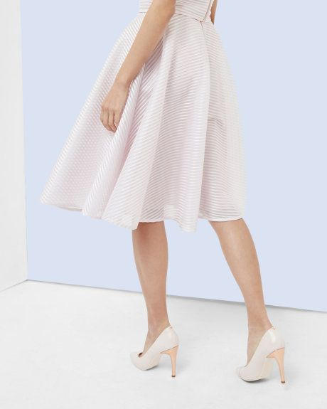 66334134246518 Mesh ribbed full skirt - Lilac | Skirts & Shorts | Ted Baker | Ted ...