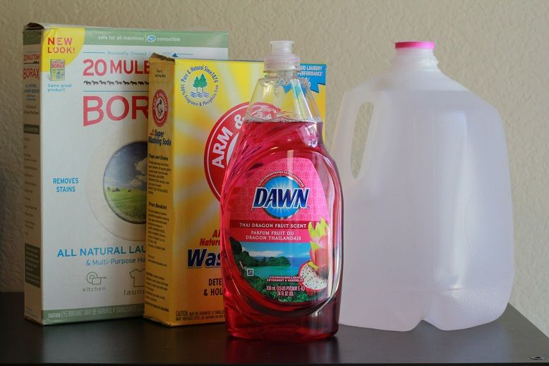 HE-Safe Homemade Liquid Laundry Soap-use gain instead of dawn for smell
