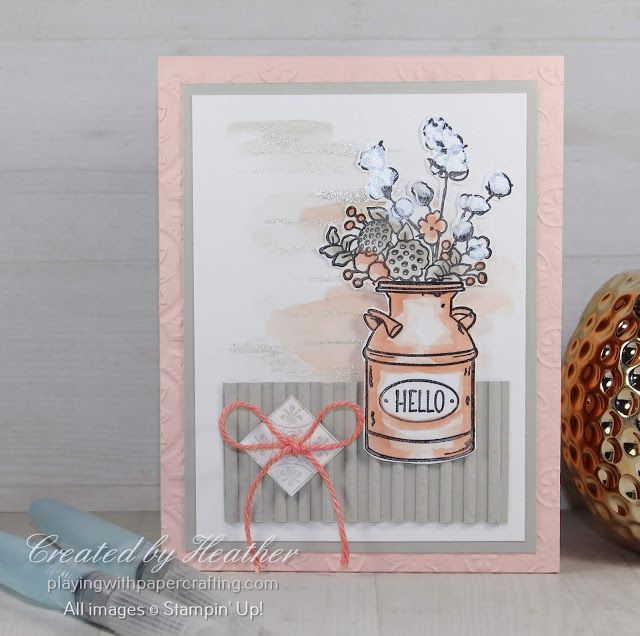 Photo of Country Home for Newsletter Tutorial and Stampin' Storage is Coming Soon!