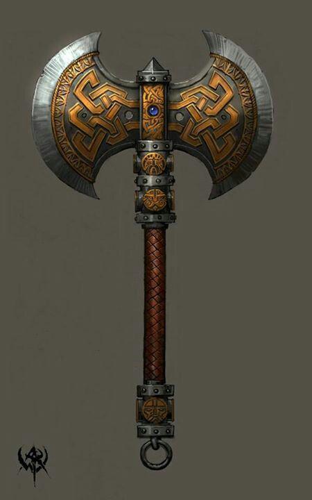 Arma viking de 2 faces | Metalwork | Medieval weapons