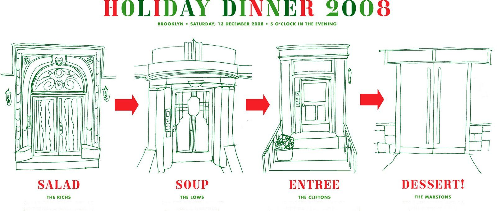 progressive Christmas dinner with neighbors - A BLOG ABOUT LOVE ...